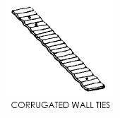 Corrugated Wall Ties