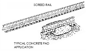 Screed Rail