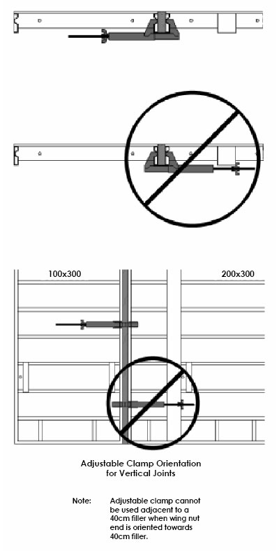 Adjustable Clamp Orientation for Vertical Joints