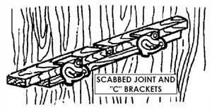 "Scabbed Joint and ""C"" Brackets"